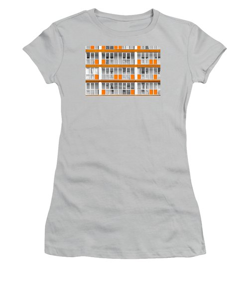 Orange Exterior Decoration Details Of Modern Flats Women's T-Shirt (Junior Cut) by John Williams