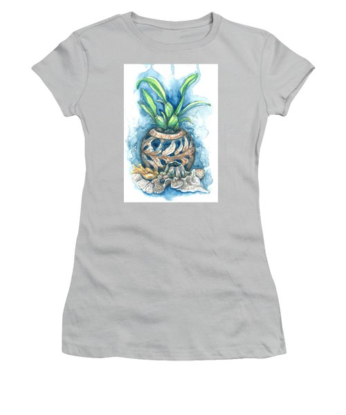 Orchid And Barnacle Women's T-Shirt (Junior Cut) by Ashley Kujan