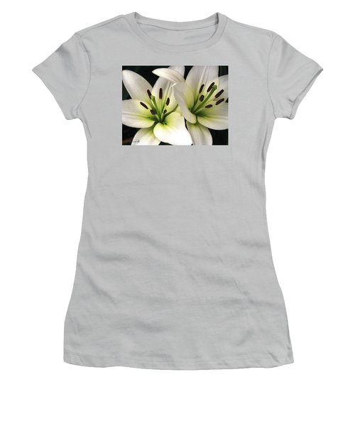 Women's T-Shirt (Junior Cut) featuring the photograph Oriental Lily Named Endless Love by J McCombie