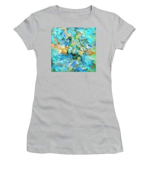 Women's T-Shirt (Junior Cut) featuring the painting Orinoco by Dominic Piperata