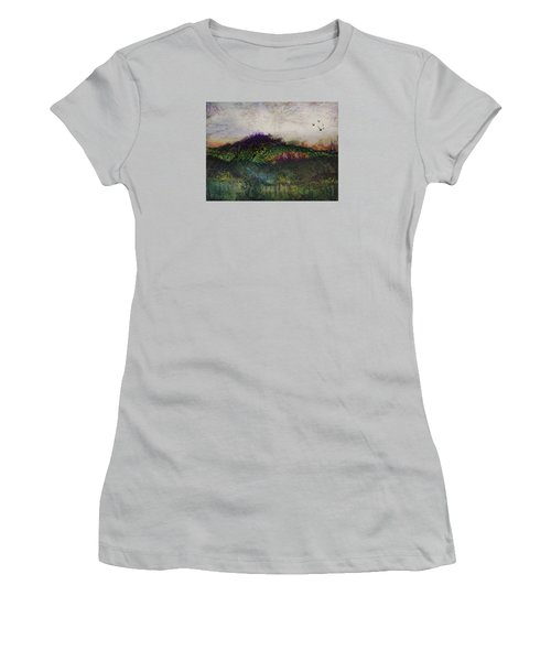 Women's T-Shirt (Junior Cut) featuring the painting Other World 1 by Ron Richard Baviello