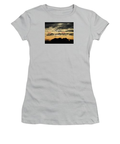 Overpowering Hate Women's T-Shirt (Junior Cut) by David Norman