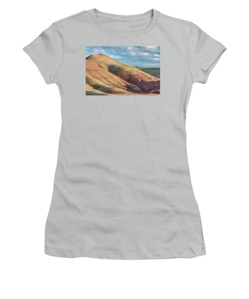 Women's T-Shirt (Junior Cut) featuring the photograph Painted Hill And Clouds by Greg Nyquist