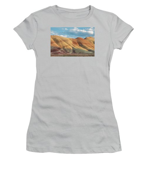 Painted Ridge And Sky Women's T-Shirt (Junior Cut) by Greg Nyquist