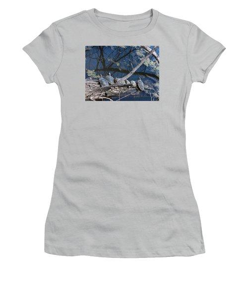 Painted Turtle Dance Line Women's T-Shirt (Junior Cut) by Edward Peterson