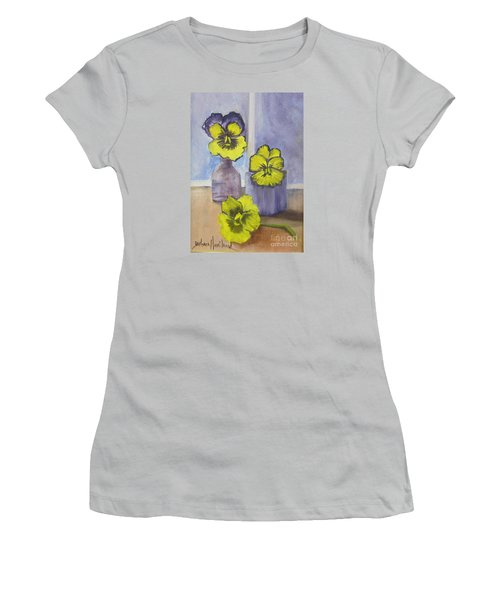 Pansies In Glass Women's T-Shirt (Athletic Fit)