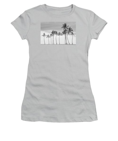 Paradise In Black And White Women's T-Shirt (Athletic Fit)
