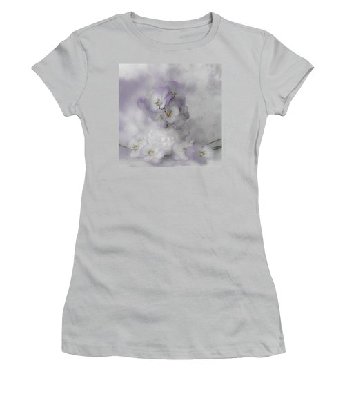 Pastel Pansies Still Life Women's T-Shirt (Athletic Fit)