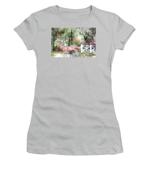 Path To The Bridge Women's T-Shirt (Junior Cut) by Donna Bentley