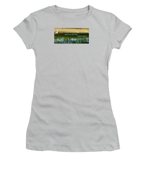 Patience  Women's T-Shirt (Junior Cut) by David Norman