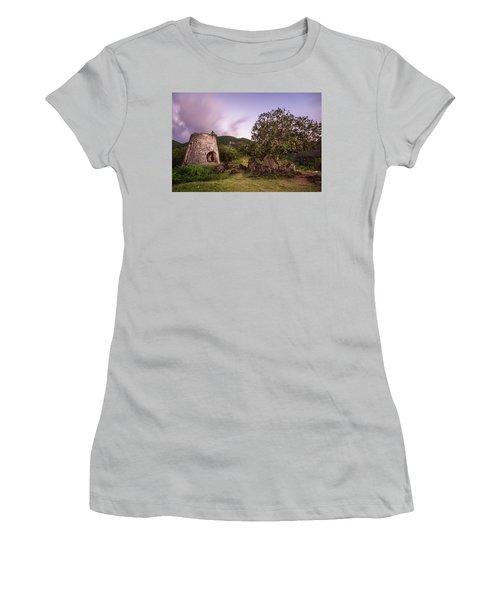 Women's T-Shirt (Junior Cut) featuring the photograph Peace Hill Ruins by Adam Romanowicz