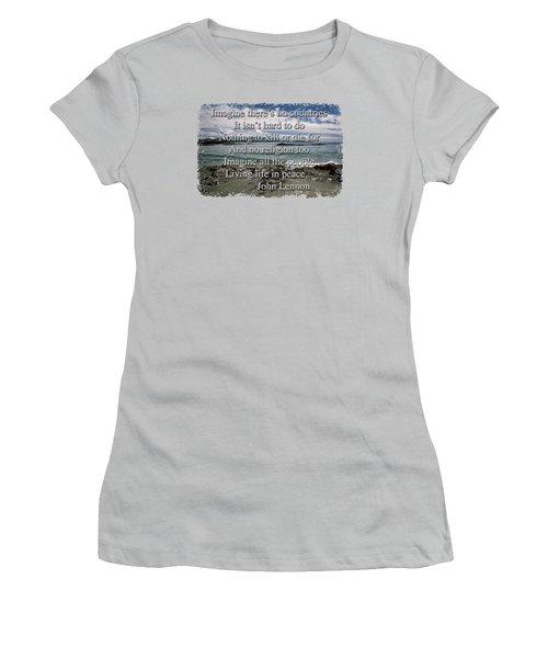 Peaceful Pacific Beach Women's T-Shirt (Junior Cut) by Richard Farrington
