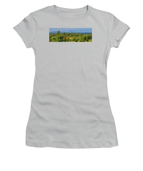 Peaks Of Otter After The Rain Women's T-Shirt (Junior Cut) by The American Shutterbug Society