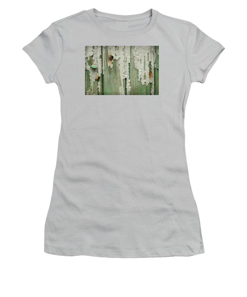 Women's T-Shirt (Junior Cut) featuring the photograph Peeling 3 by Mike Eingle
