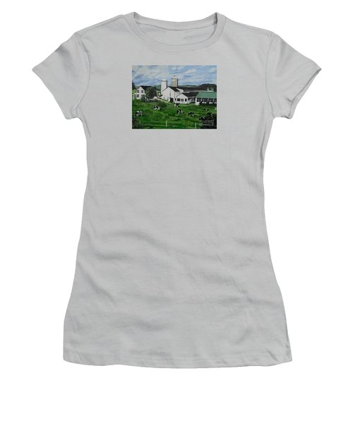 Pennsylvania Holstein Dairy Farm  Women's T-Shirt (Athletic Fit)
