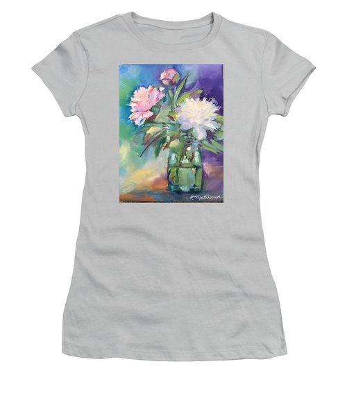 Peonies In Jar Women's T-Shirt (Athletic Fit)