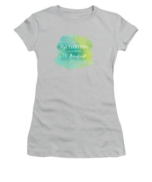 Permissible Women's T-Shirt (Junior Cut) by Nancy Ingersoll