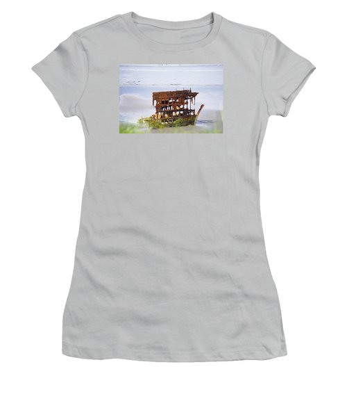 Peter Iredale Women's T-Shirt (Junior Cut) by Angi Parks