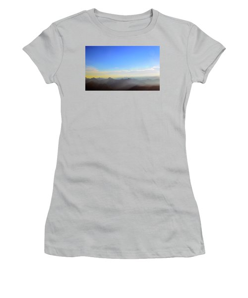 Pilchuck And Three Sisters Sunrise Women's T-Shirt (Athletic Fit)