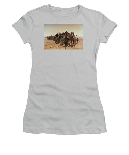 Pilgrims Going To Mecca Women's T-Shirt (Athletic Fit)