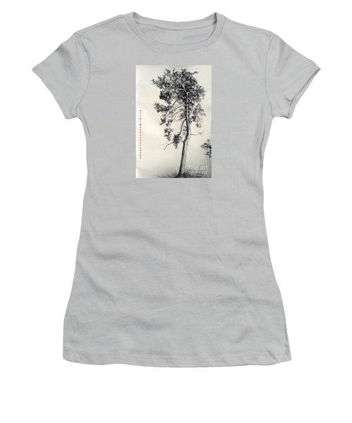 Pine Drawing Women's T-Shirt (Junior Cut) by Maja Sokolowska