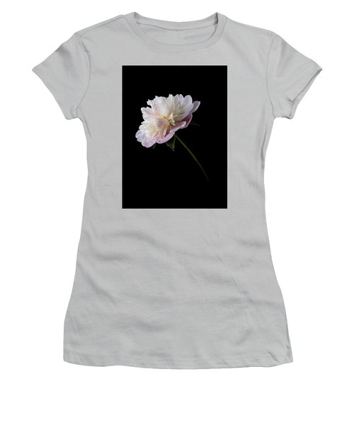 Pink And White Peony Women's T-Shirt (Athletic Fit)