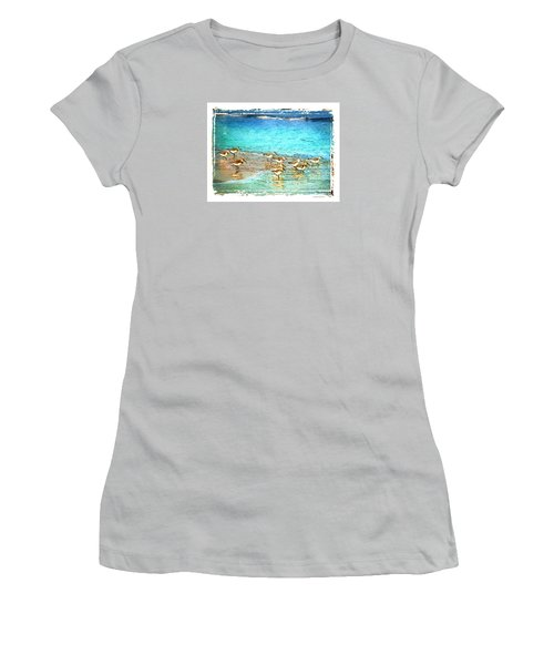 Women's T-Shirt (Junior Cut) featuring the digital art Pipers Run by Linda Olsen