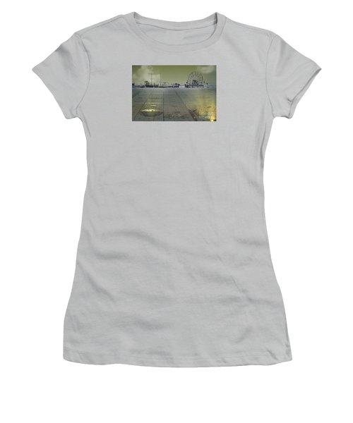 Women's T-Shirt (Junior Cut) featuring the digital art Playground On Planet X by Melissa Messick