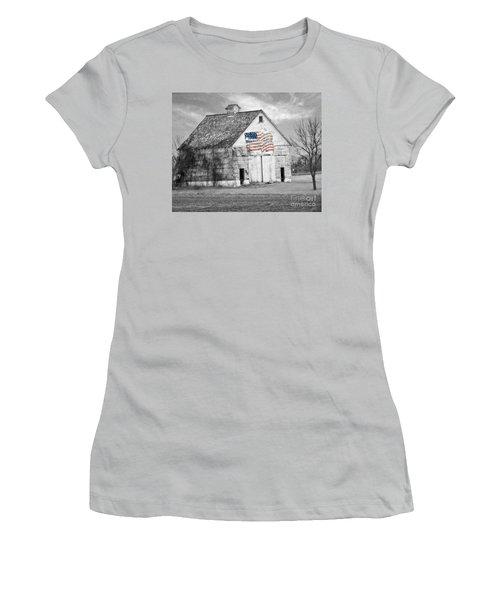 Pledge Of Allegiance Crib Women's T-Shirt (Junior Cut) by Kathy M Krause