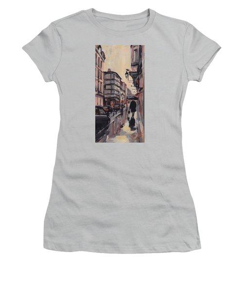 Pluie Rue De Regence Liege Women's T-Shirt (Athletic Fit)