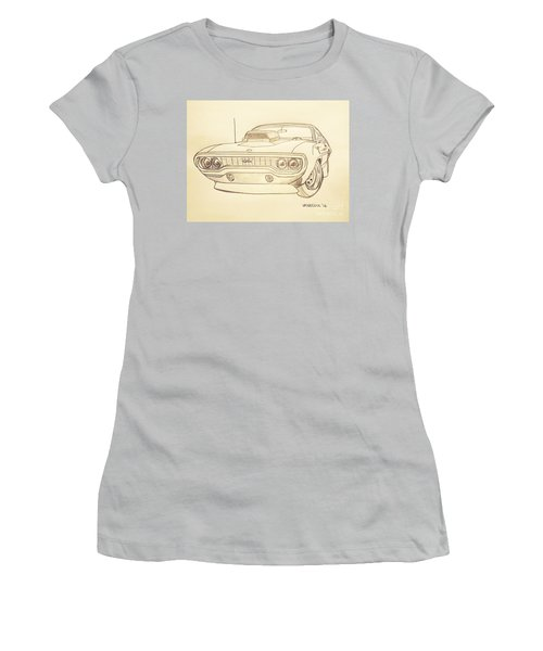 Plymouth Gtx American Muscle Car - Antique  Women's T-Shirt (Athletic Fit)