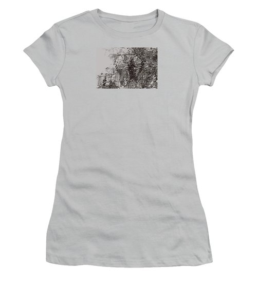 Pokeweed Women's T-Shirt (Junior Cut) by Linda Shafer