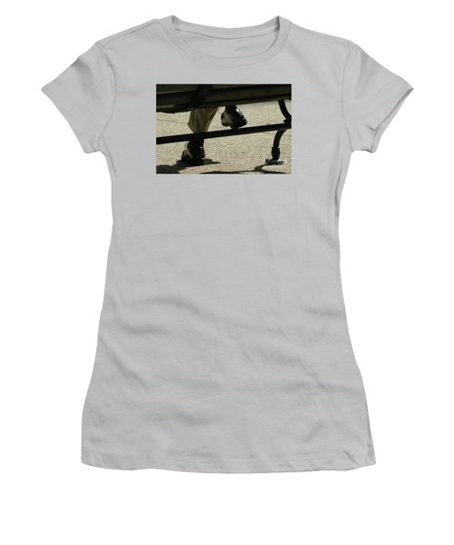 Polished Shoes On Bench Women's T-Shirt (Athletic Fit)