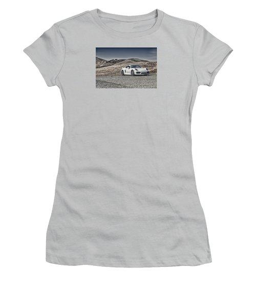 Porsche Cayman Gt4 In The Wild Women's T-Shirt (Athletic Fit)