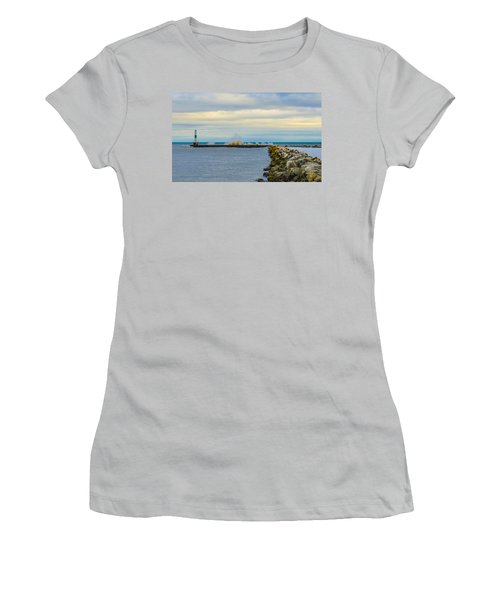 Port Washington Light 1 Women's T-Shirt (Junior Cut) by Deborah Smolinske