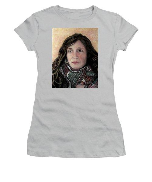 Portrait Of Katy Desmond, C. 2017 Women's T-Shirt (Junior Cut) by Denny Morreale