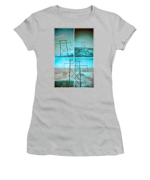 Power Line Patriots Women's T-Shirt (Junior Cut) by Bartz Johnson