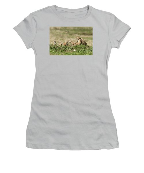 Prairie Dog Family 7270 Women's T-Shirt (Athletic Fit)