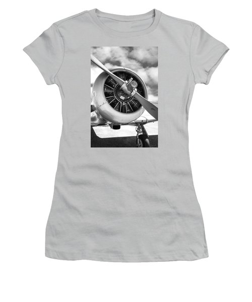 Pratt And Whitney R1340 Wasp Radial Engine Women's T-Shirt (Junior Cut) by Chris Smith