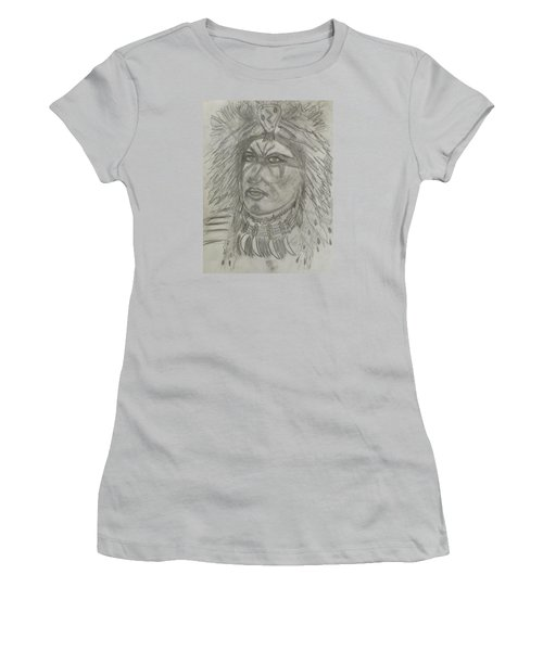 Women's T-Shirt (Junior Cut) featuring the drawing Proud Nation by Sharyn Winters