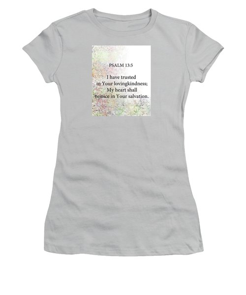 Women's T-Shirt (Junior Cut) featuring the digital art Psalm 13 5 by Trilby Cole