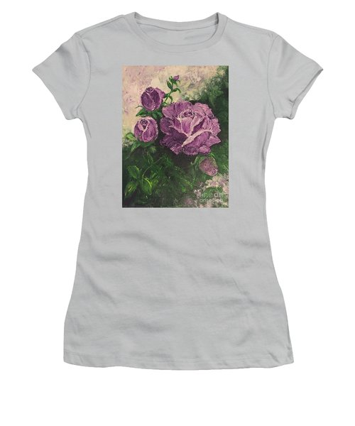Purple Passion Women's T-Shirt (Junior Cut) by Lucia Grilletto