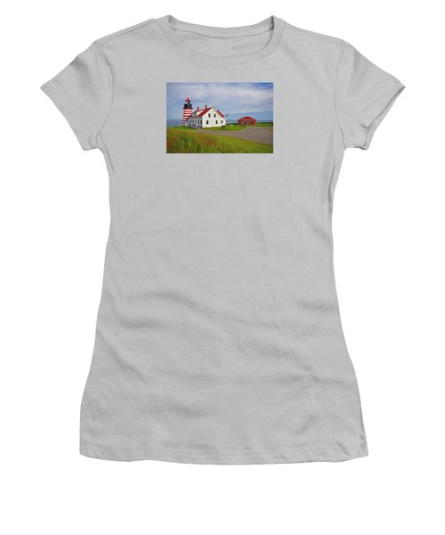 Quoddy Head Lighthouse Women's T-Shirt (Athletic Fit)