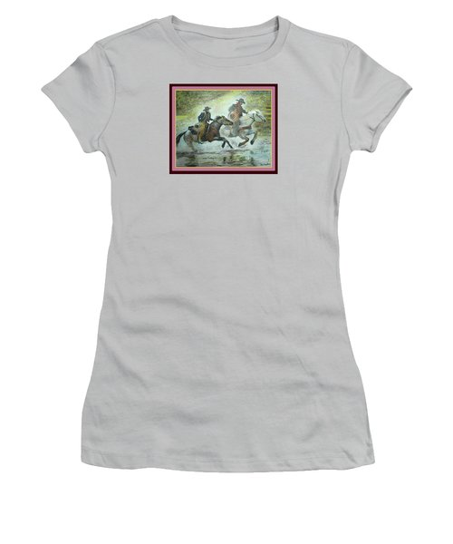 Racing Through The Water Women's T-Shirt (Athletic Fit)