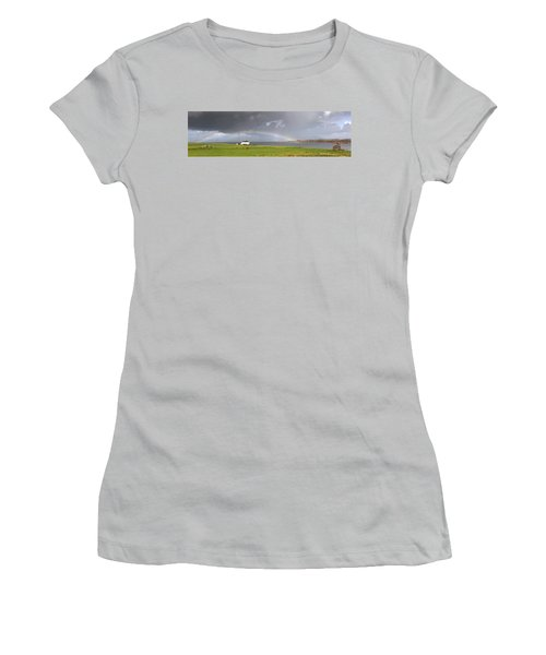 Rainbow, Island Of Iona, Scotland Women's T-Shirt (Athletic Fit)