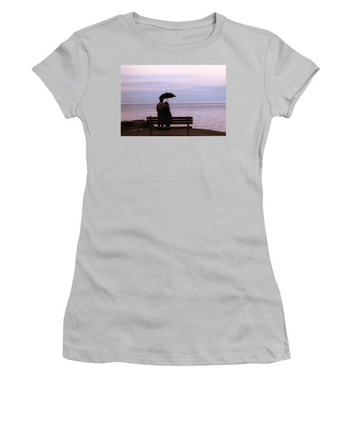Women's T-Shirt (Junior Cut) featuring the photograph Rainy-may In Color by John Scates