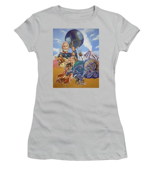 Ray Harryhausen Tribute The Mysterious Island Women's T-Shirt (Athletic Fit)