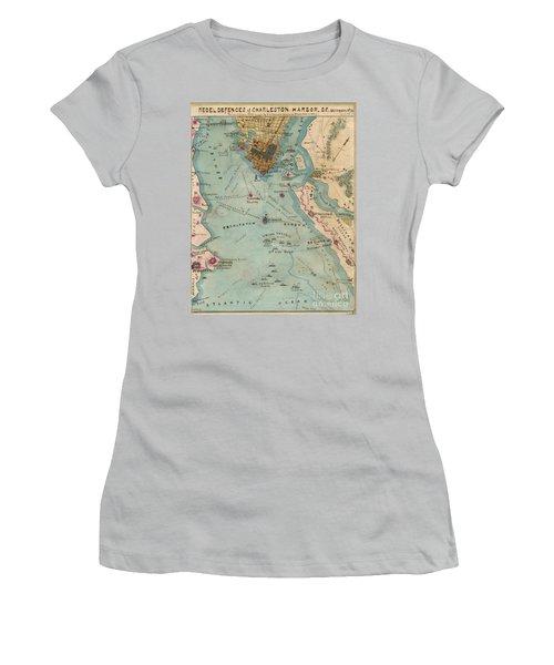Rebel Defenses Of Charleston Harbor Women's T-Shirt (Athletic Fit)