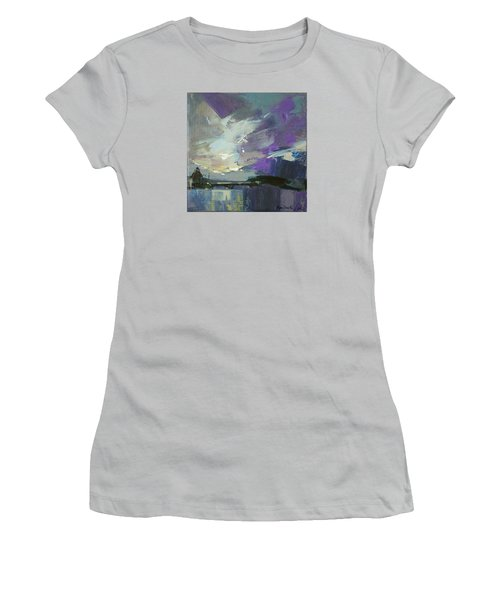 Women's T-Shirt (Junior Cut) featuring the painting Recollection by Anastasija Kraineva