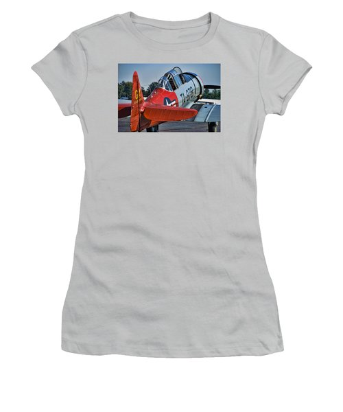 Red At-6 Women's T-Shirt (Athletic Fit)